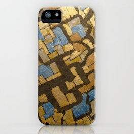 Gold cubic Eiffel tower close up iPhone Case