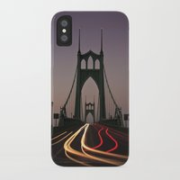 marc johns iPhone & iPod Cases featuring St. Johns Bridge by Cameron Booth
