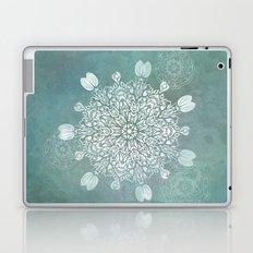 Turquoise Batik Mandala Float Laptop & iPad Skin