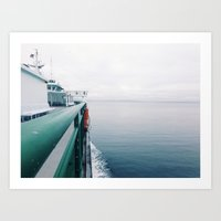 Ferry boat on the Puget Sound Art Print