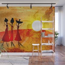 Africa retro vintage style design illustration Wall Mural