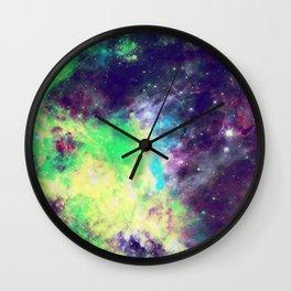 Green Galaxy Wall Clock
