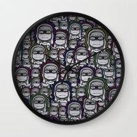 grumpy Wall Clocks featuring GRUMPY by piemboons
