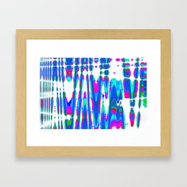 waves abstract Framed Art Print