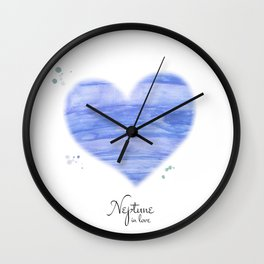 Neptune in love Wall Clock