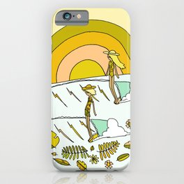 summer time daydreams surf till sunset // retro surf art by surfy birdy iPhone Case