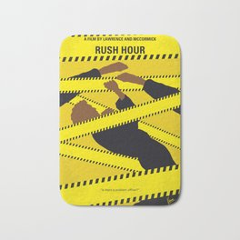 No816 My Rush Hour minimal movie poster Bath Mat