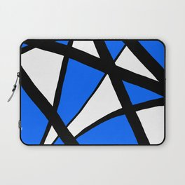 China Blue Geometric Triangle Abstract Inverse Laptop Sleeve