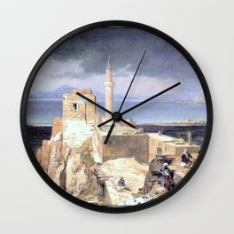 Jules Laurens - Lake and Fortress of Van in Armenia Wall Clock