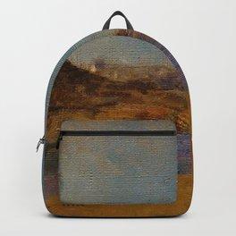 "Odilon Redon ""Fishing Village, Brittany"" Backpack"