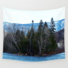 Blue Mountain River Wall Tapestry