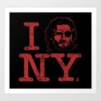 I (Snake) NY Art Print