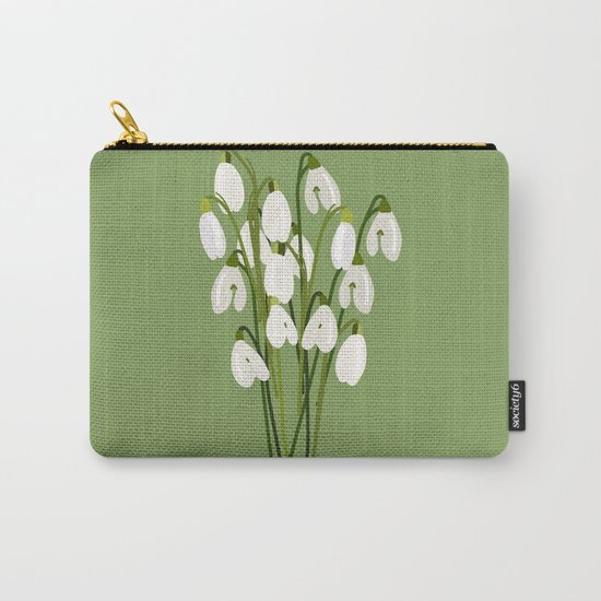 Bouquet Of Snowdrops Carry-All Pouch