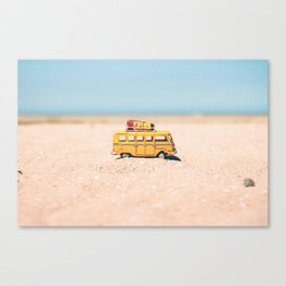 Toy car on the beach Canvas Print