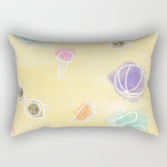 Summer in watercolors Rectangular Pillow