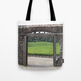 doorway to the vineyard Tote Bag