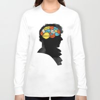 conan Long Sleeve T-shirts featuring Sherlock Phrenology by Wharton