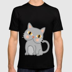 Cat Mens Fitted Tee Black MEDIUM