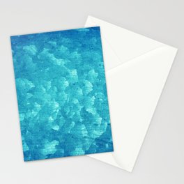 Blue grunge rusty metal Stationery Cards