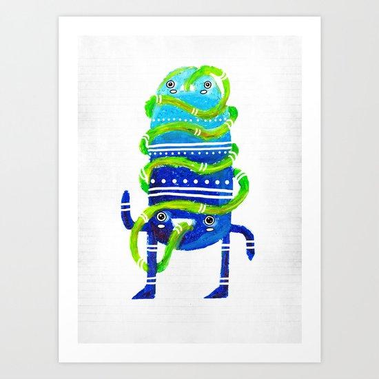 Mr Tubeface Art Print