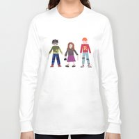 hermione Long Sleeve T-shirts featuring Harry, Hermione, and Ron by Janna Morton