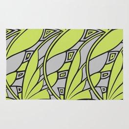 Modern art nouveau tessellations green gray Rug