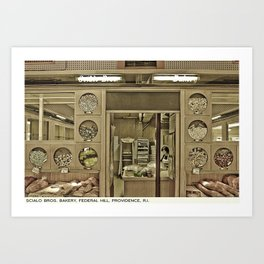 Providence Postcard Project: Scialo Bros. Bakery, Federal Hill Art Print