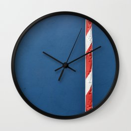 Red White Blue Wall Clock