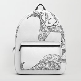 African Buffalo Charging Doodle Backpack