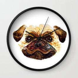 Smiley Pug Wall Clock
