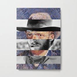 Van Gogh's Self Portrait & Clint Eastwood (2) Metal Print