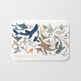 "FINconceivable Still ""Sharks"" Bath Mat"