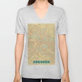 Dresden Map Retro Unisex V-Neck