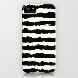 Horizontal Ivory Stripes iPhone Case