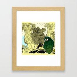 Leaf Owl & The Cuddling Koalas. Framed Art Print