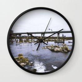 Fall Line Fall Vibes Wall Clock