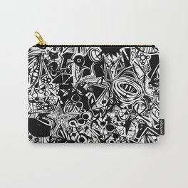 Black/White #1 Carry-All Pouch