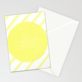 Hafez sun love quote Stationery Cards