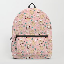 Baking Gingerbread - Retro Pink Backpack