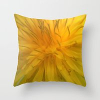 tooth Throw Pillows featuring Lion's Tooth by Stevyn Llewellyn