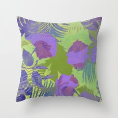 Hawaiian Purple Throw Pillow