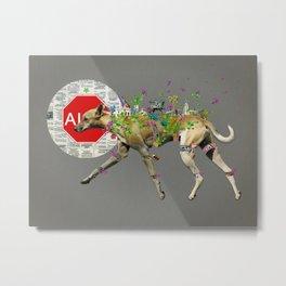 Perro callejero Metal Print