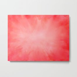 Pink Coral Watermelon Metal Print