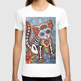 Tiger Day of the Dead Cat T-shirt