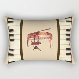 Antique Piano and chair bench art by Kristie Hubler Rectangular Pillow
