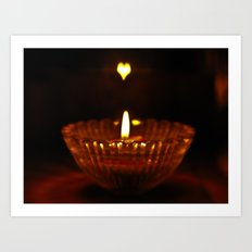 Flaming heart Art Print