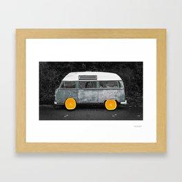 Oranges on a Roll Framed Art Print