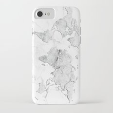 world map marble iPhone 7 Slim Case