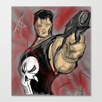 punisher Canvas Prints featuring Punisher by Off The Walls