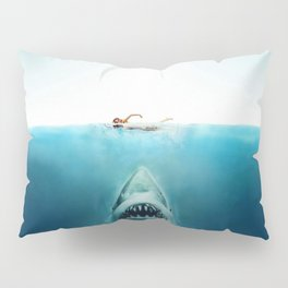 First And Last Swim Of The Day Pillow Sham